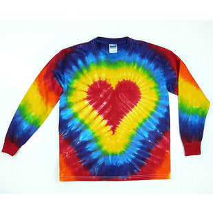 Ladies lover Tie-dye Love Printed Round Neck Casual Sweater