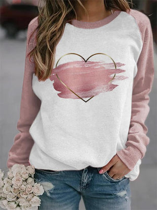 Women's Valentine's Day Print Sweatshirt