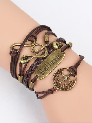 Vintage Style Hand-knitted Alloy Jewelry Multi-layer Bracelet