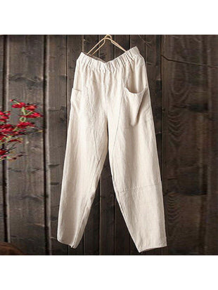 Casual Cotton And linen Harem Trousers