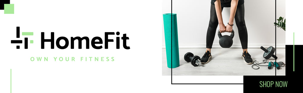 HomeFit Home Fitness Equipment Banner - Shop Now