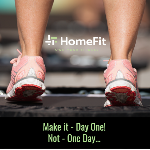 HomeFit Home Fitness Equipment - Day One Not One Day Campaign