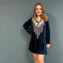 Load image into Gallery viewer, Velvet Tunic Dress