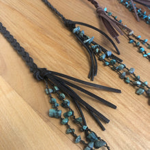Load image into Gallery viewer, Stones and Leather Necklace