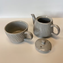 Load image into Gallery viewer, Debossed Stoneware Tea Set for One