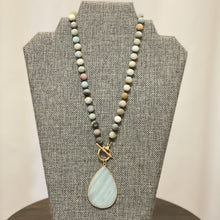 Load image into Gallery viewer, Amazonite Pendant Beaded Necklace