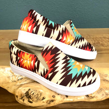 Load image into Gallery viewer, Aztec Print Shoes Orange