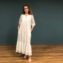 Load image into Gallery viewer, Embroidered 3/4 Sleeve Nightgown