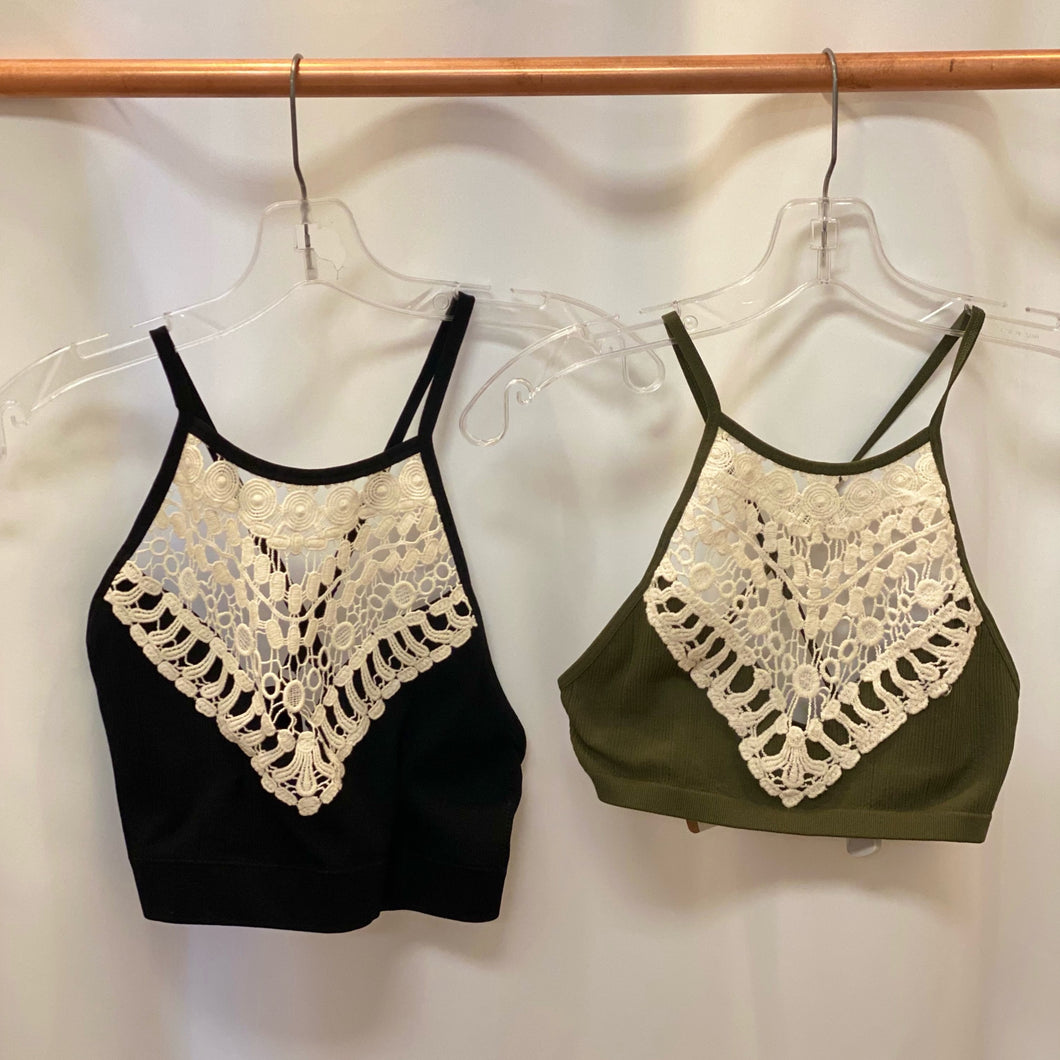 Boho High Neck Bralet