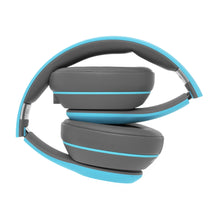 Blue Rival Headphones folded
