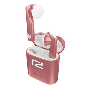 Pink in ear Chronos headphones