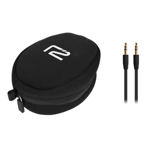 Rival Black Headphones travel pouch