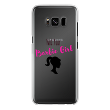 Load image into Gallery viewer, NOT YOUR BARBIE GIRL Back Printed Transparent Hard Phone Case