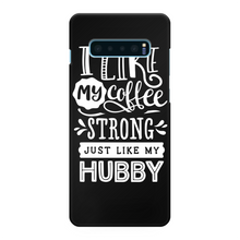 Load image into Gallery viewer, Couples Collections/I like My Coffee/Hubby Back Printed Black Hard Phone Case