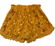 Load image into Gallery viewer, PreLoved Vanilla Star Mustard Yellow Vintage Style Shorts