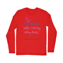 Load image into Gallery viewer, Hold My Heels / Hiking Boots Adeline Long Sleeve T-Shirt