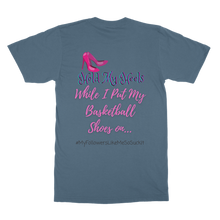Load image into Gallery viewer, Hold My Heels / Basketball Shoes T-Shirt