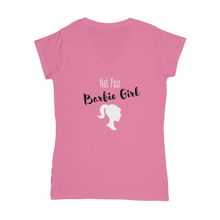 Load image into Gallery viewer, NOT YOUR BARBIE GIRL Women's V-Neck T-Shirt