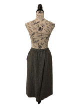 Load image into Gallery viewer, Evan Picone 100% Wool Vintage Grey A-Line Skirt