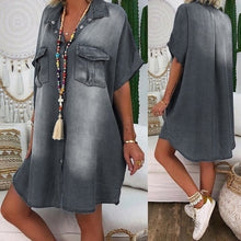 Load image into Gallery viewer, Women Summer Denim Dresses available in Ladies Plus Sizes