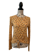 Load image into Gallery viewer, Gold Floral Long Sleeve Shirt