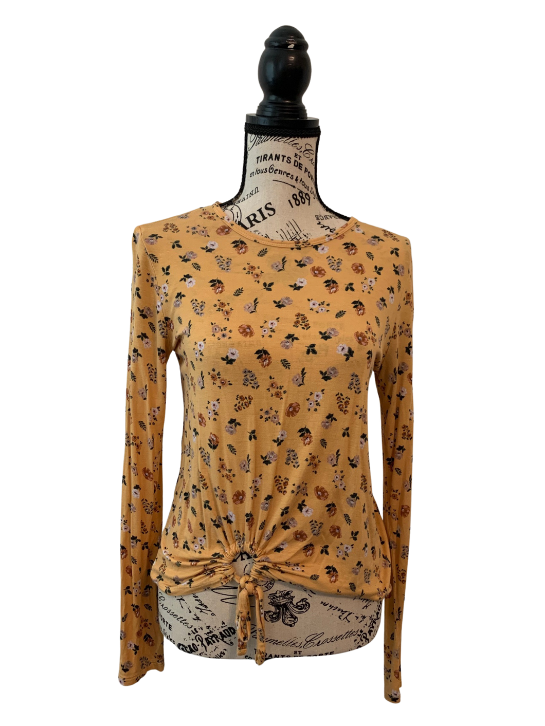 Gold Floral Long Sleeve Shirt