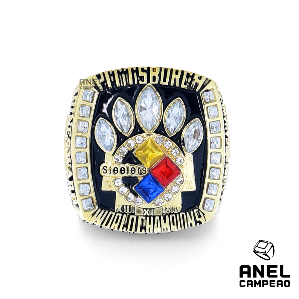 Anel Campeão Pittsburgh Steelers Super Bowl XL
