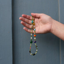 Load image into Gallery viewer, crazy green & stone necklace