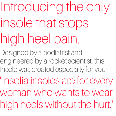 Vivian Lou Weight-Shifting Insolia Inner Soles for High Heels
