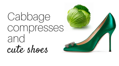 High heels cabbage compress