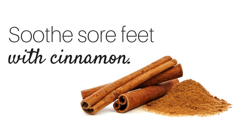 How to soothe sore feet with cinnamon