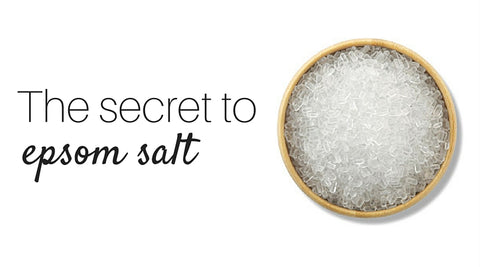 The secret to epsom salt.