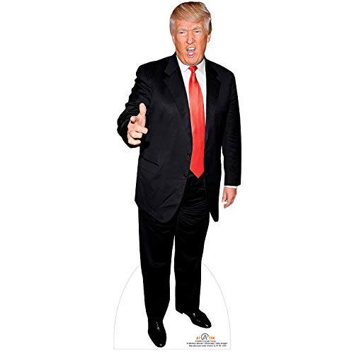 AT TEN Donald Trump Cardboard Cutout Standup-6 Feet Life Size Trump Stand up Cardboard-Great Party Decoration Solid Cardboard Print 75x29 inches