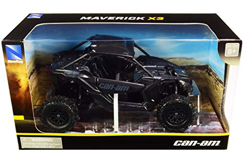 New-Ray - 58193B - 1:18 Scale Toy CAN-AM MAVERICK X3 X TURBO BLACK