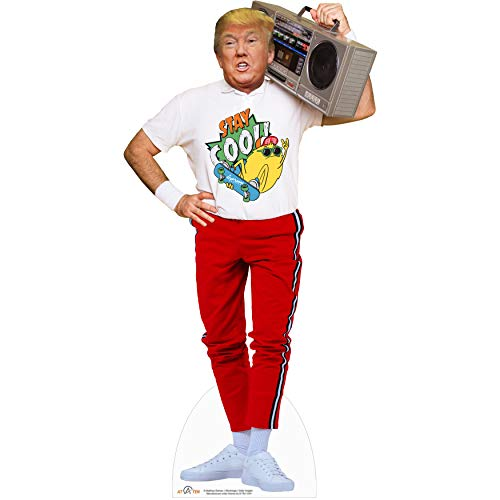 AT TEN Donald Trump Boom Box Cardboard Cutout Standup Trump Party Decorations 6 - Feet Life Size Standee Solid Cardboard Print 75x30 inches
