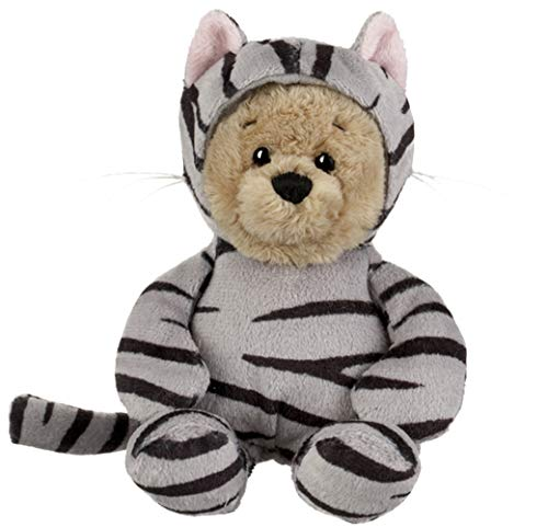 Ganz Wee Bears Grey Tabby Cat Teddy Bear 6 inches from The Wee Bears Village Collection