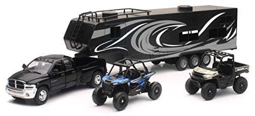 New Ray Toys Die-Cast Replica Ram Dually with Toy Hauler 37046