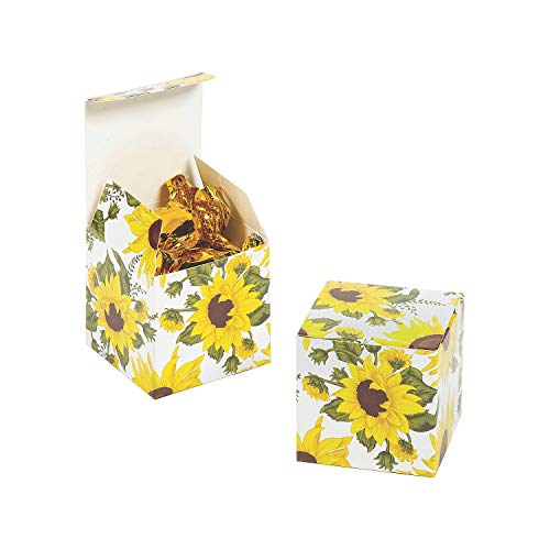 Sunflower 2In Gift Boxes 24Pc - Party Supplies - 24 Pieces