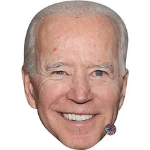 Load image into Gallery viewer, Joe Biden (Smile) Celebrity Mask, Flat Card Face, Fancy Dress Mask