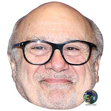Load image into Gallery viewer, Danny DeVito Celebrity Mask, Flat Card Face, Fancy Dress Mask