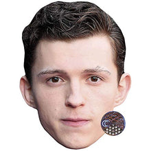 Load image into Gallery viewer, Tom Holland (Brown Hair) Celebrity Mask, Flat Card Face, Fancy Dress Mask