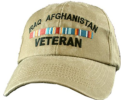 Eagle Crest Iraq Afghanistan Veteran Khaki Military Baseball Cap