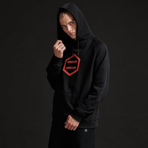 Dolly Noire - Hexagon Black Red Hoodie