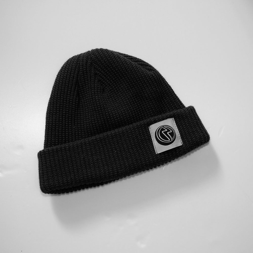 PATCH LOGO BEANIE (BLACK)