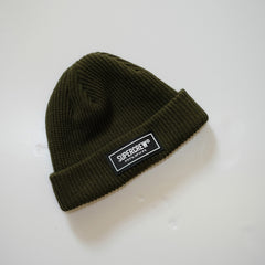PATCH LOGO BEANIE (OLIVE GREEN)