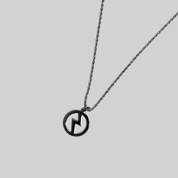 ICONIC LOGO SILVER NECKLACE