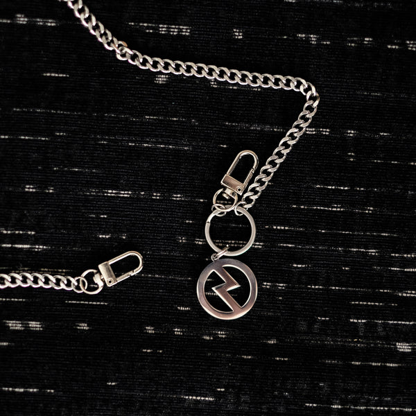 ICONIC LOGO SILVER CHAIN