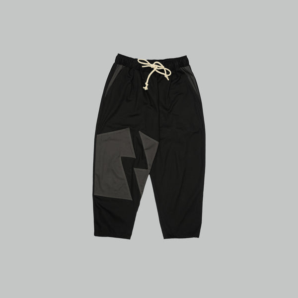 E&PD PATCHWORK DRAWSTRING PANT (BLACK)