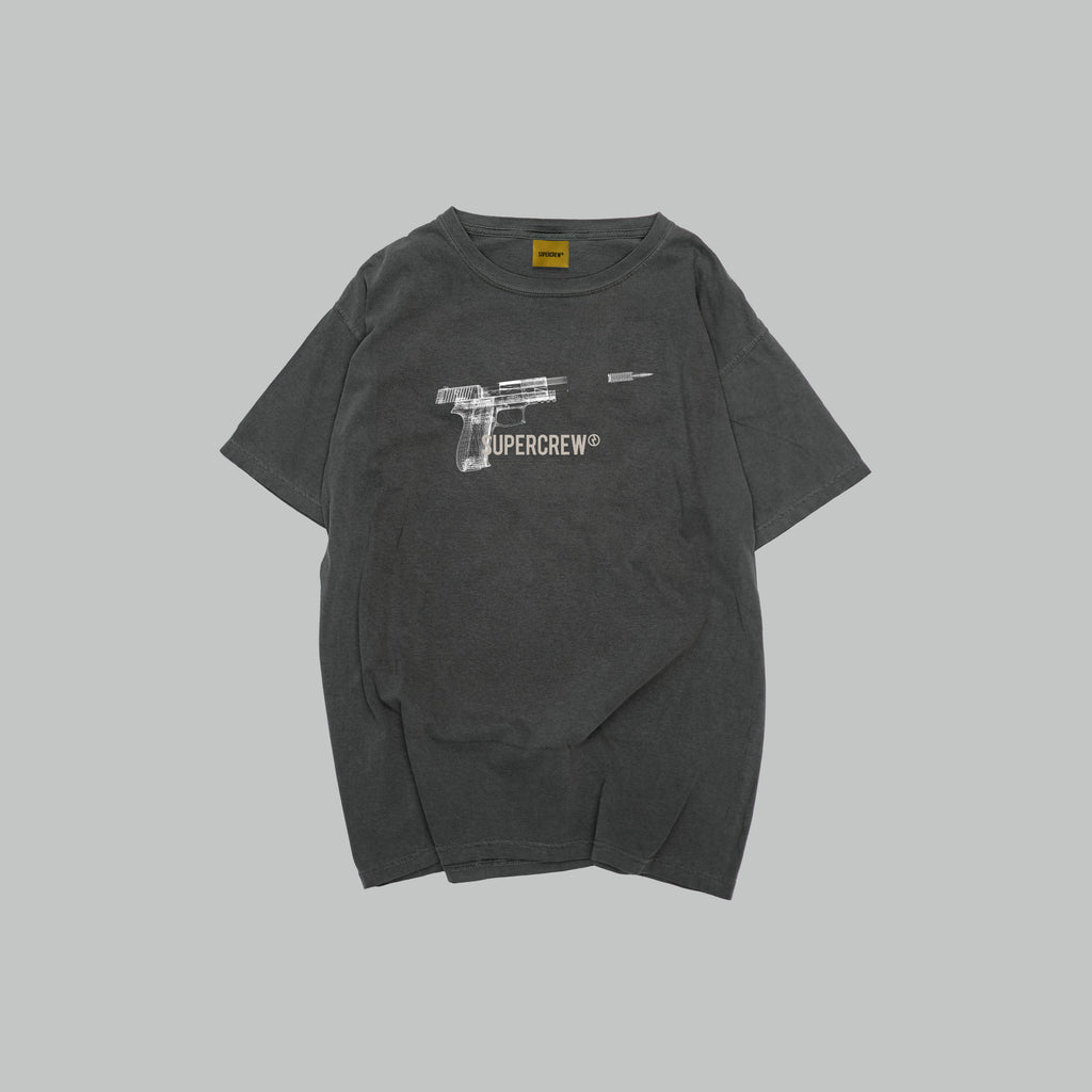 E&PD BULLET TEE (WASHED-OUT BLACK)