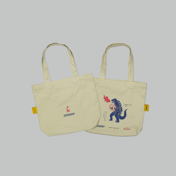 KAIJU X SUPERCREW TOTEBAG (BEIGE)